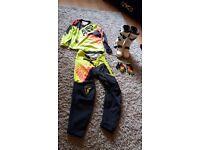 Motocross kit, boots & gloves
