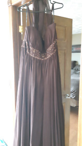Bridesmaid dress, brown