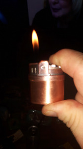 Butain lighter comes with padded mint ç