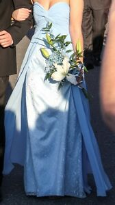 Blue Strapless Grad Dress