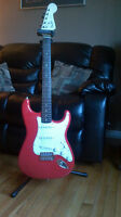 Fender Stratocaster Squire Guitar, Stand & Lyric Stands