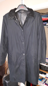 Genuine leather reversible coat ladies size XL