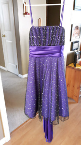 Purple prom dress size 5