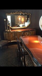 Stunning buffet table and mirror. 8 ft. Long