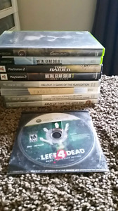 PS2, xbox, and xbox 360 Games