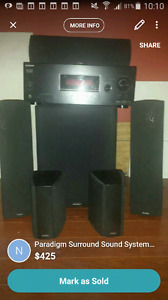 Paradigm Surround Sound System with Sony Reciever