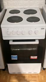 Beko 50cm electric cooker white