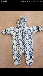 Fleece suit size 12m