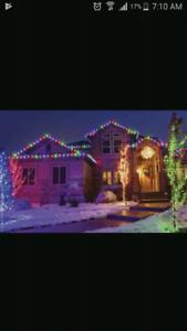 Christmas light setup