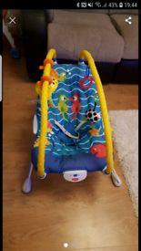 Lights and sounds baby bouncer