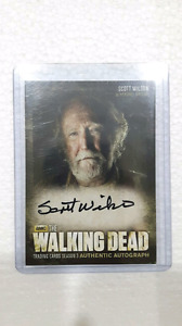 The walking dead trading card