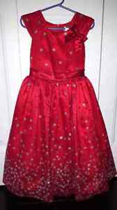 Girls red dress size 5