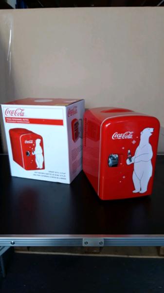 Coke mini retro fridge chiller 12volt 4ltr van car fridge rrp £35  for sale  Poole, Dorset