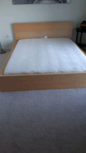 IKEA Queen Malm Bed and Sultan Eidsvoll mattress