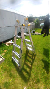 Mastercraft multi-functioning step/extension ladder barely used