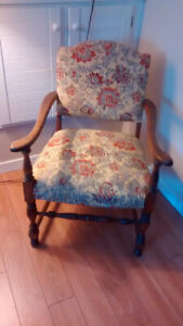 3 Different Antique occasional chairs