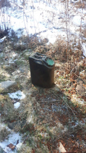Old army gas can