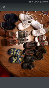 Baby boy shoes...lot of 10 pairs