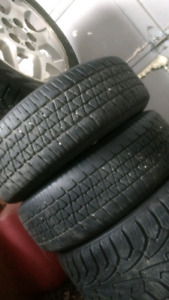 """4 winter tires with 15"""" rims 250 obo need gone asap"""