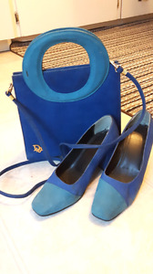 Matching suede Dior  purse and shoes