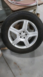 Mercedes rims and snow tires