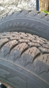 185/70 R14 Goodyear Nordic winter tires on 4x100 steel rims