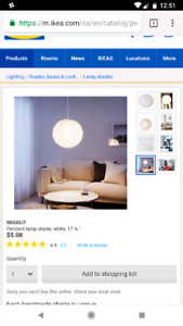 Ikea rice paper ceiling lamps