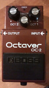 BOSS OC-2 Made In Japan and MXR Modified OD
