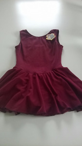 Burgundy bodysuit for ballet