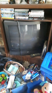Tube tv . Works great. With remote