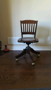 Solid wood bankers chair