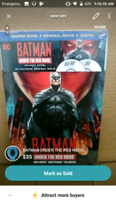 Batman Under The Redhood bluray & graphic novel