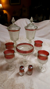 Antique set and others vase, candle holder