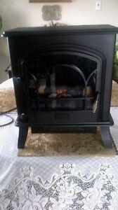 Stove flame with (2) heater settings sylvania 750 -1500watt