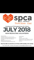 SPCA Thrift Store East is Seeking Volunteers!!