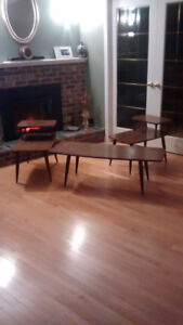 Coffee table and 2 two end tables