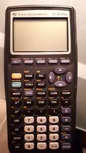 Texas instruments TI-83 Plus mint condition barely used