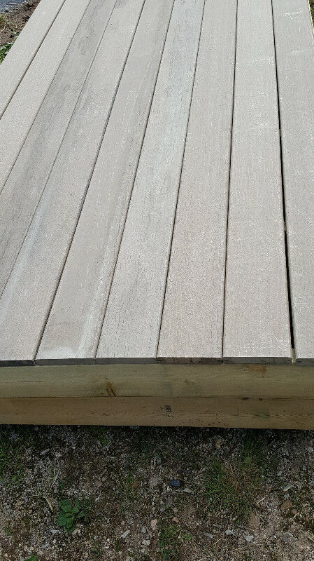 "DECK OR DOCK - 10\'6""X4\' PT FRAME WITH COMPOSITE DECKING 