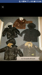 Baby clothes coats and stuff