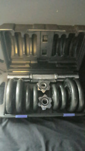 DUMBBELL SET ! MINT CONDITION!