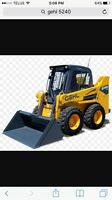 Skidsteer truck and trailer for hire