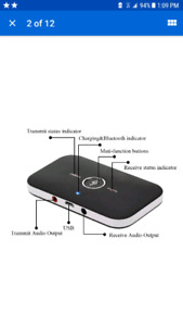 2in1 Bluetooth Audio Transmitter Receiver Aux Adapter home car