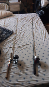 Two fishing rods one allan and one is shakespear