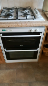Gas hob built in double oven with housing if required