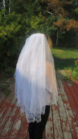 Selling brand new 2 tiered silver crystal wedding veil