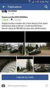 Toyota corolla 2000 92000km RIEN A FAIRE DESSUS  Saguenay Saguenay-Lac-Saint-Jean image 1