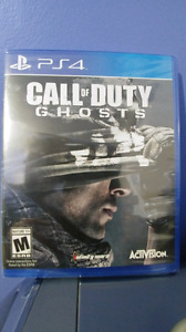 Ps4 call of duty ghosts neuf sceller