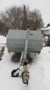 Inline double snowmobile