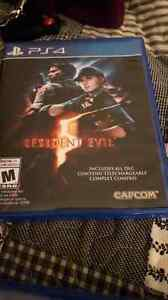 Selling mint condition resident evil 5