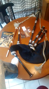 Silver plated bag Scottish bagpipes